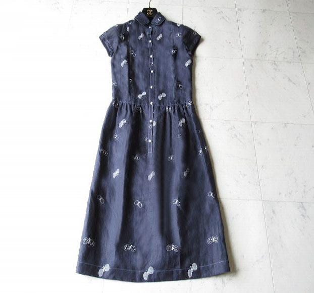 ミナ ペルホネン 夏の装いに 刺繍 ワンピース 通常Mサイズの方向き