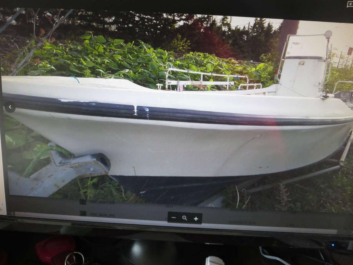 「ヤマハ W-25 デッキ張り センターキャビン付き ハル V型に加工済み 走破性抜群」の画像1