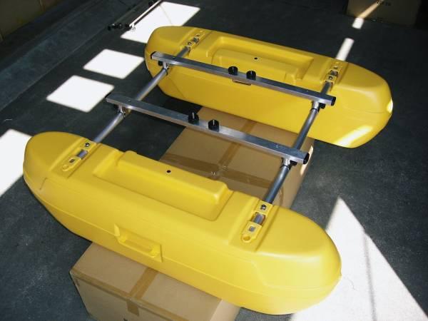 「新品 フロートボートZ1-(KAI)改用 追加フロート(イエロー)」の画像1