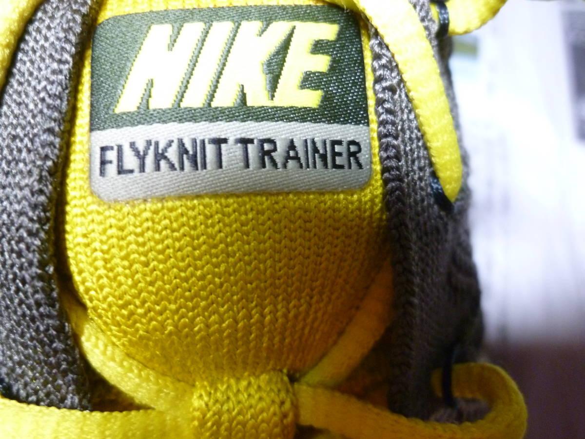 希少品!! 試着有 25.5㎝ NIKE FLYKNIT TRAINER ナイキ フライニット トレーナー CARGO KHAKI/BLACK-SAIL-BRIGHT CITRON カジュアルシューズ