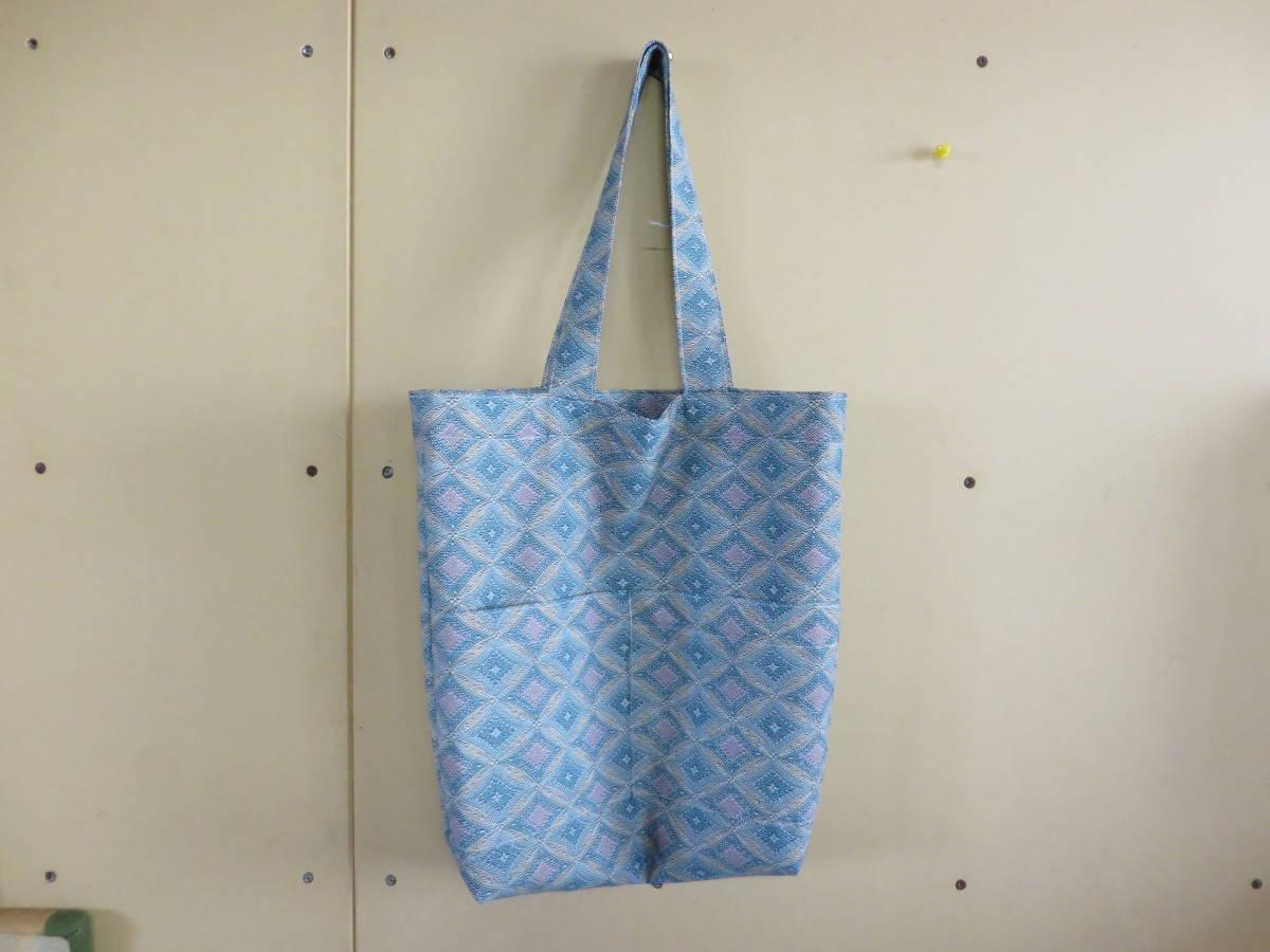 <水風> 着物 リメイク トートバッグ エコバッグ バッグ 買い物バッグ 手提げバッグ 手作り ハンドメイド7