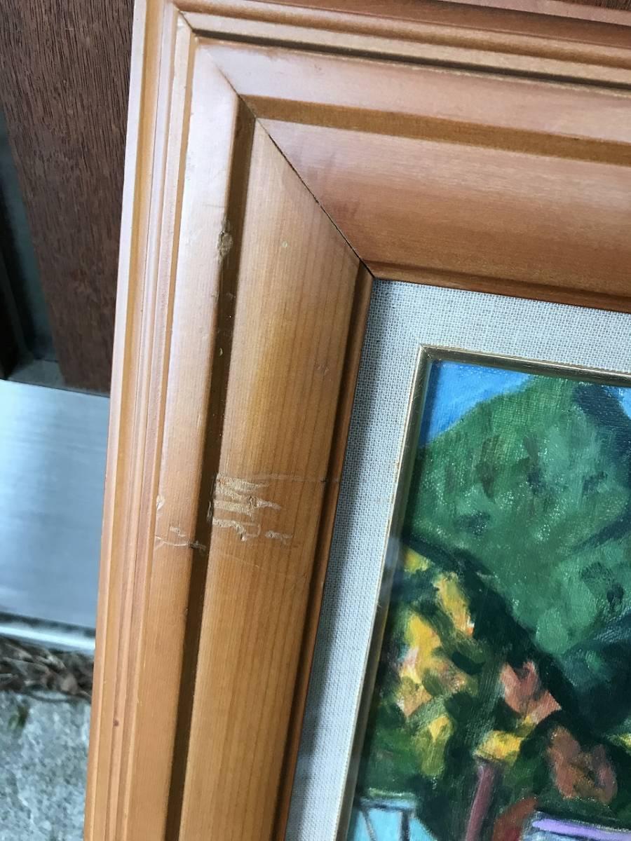 ★ 作者不明 風景画 肉筆画 直筆画 絵画 額装 年代物 時代物 骨董 昭和レトロ ビンテージ アンティーク_画像3