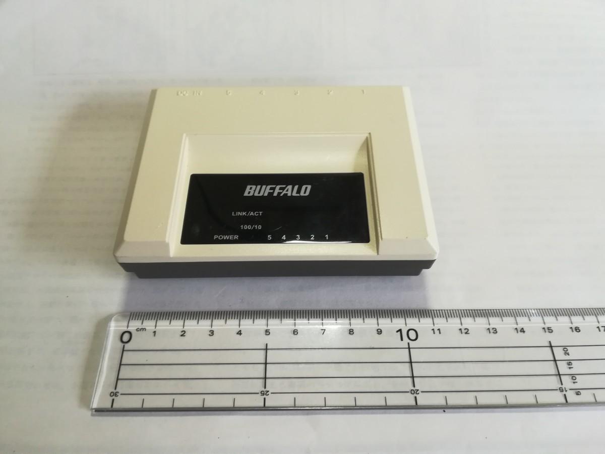 BUFFALO 小型 LAN スイッチ Switch 5ポート スイッチングハブ