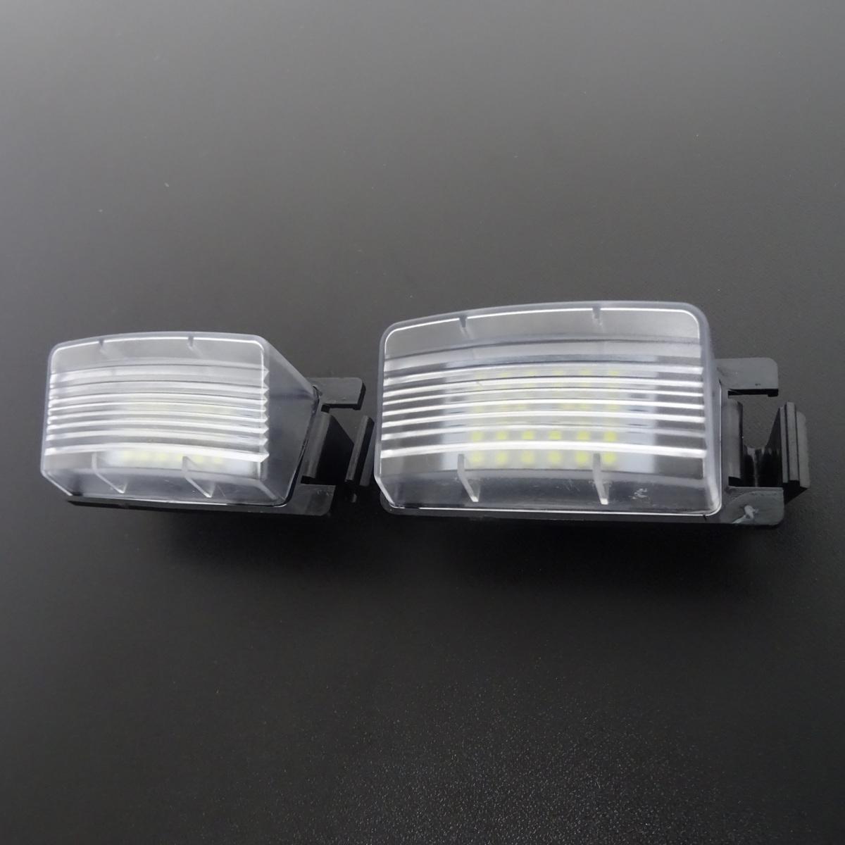 激白光 ! 交換式 ! 日産 LED ナンバー灯 ライセンス ランプ ティーダ C11 NC11 JC11 リーフ ZE0 AZE0 セレナ C24(後期) RC24 TC24 TNC24_画像2