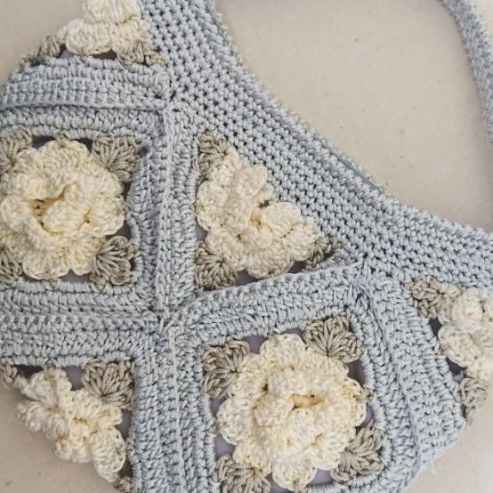花モチーフミニトートバッグ