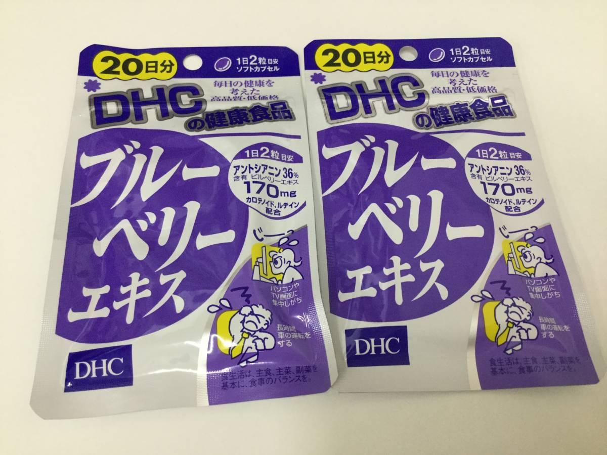 【新品未開封・送料無料】DHC サプリメント ブルーベリーエキス 20日分×2セット 健康食品_画像1
