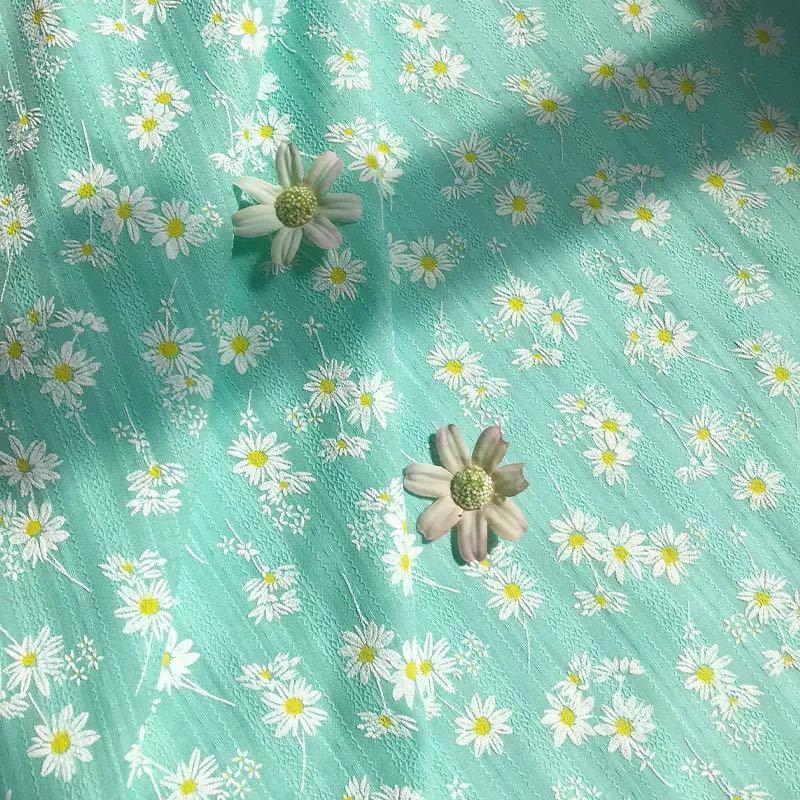 生地 花柄 デイジー 布 ガーゼ ひまわり 可愛い ベビー フラワー