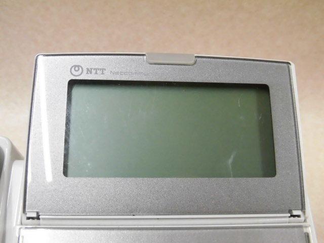 Ω ZZF1 3663♪ 保証有 13年製 NTT NX2-(18)BTEL-(1)(W) 18ボタンバス標準電話機 2台セット 動作品 ・祝10000!取引突破!同梱可_液晶画面に細かいキズがあります。