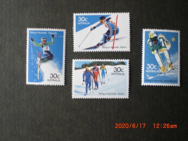 豪州のスキーーノルデイック他 4種完 未使用 1984年 オーストラリア共和国 VF・NH_画像1