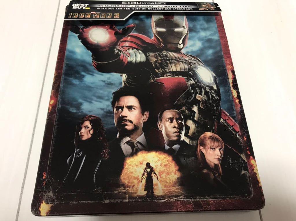 アイアンマン2 Iron Man 2 (4K Ultra HD/Blu-ray) スチールブック海外盤 4Kのみに日本語字幕と日本語吹替有り 中古_画像1