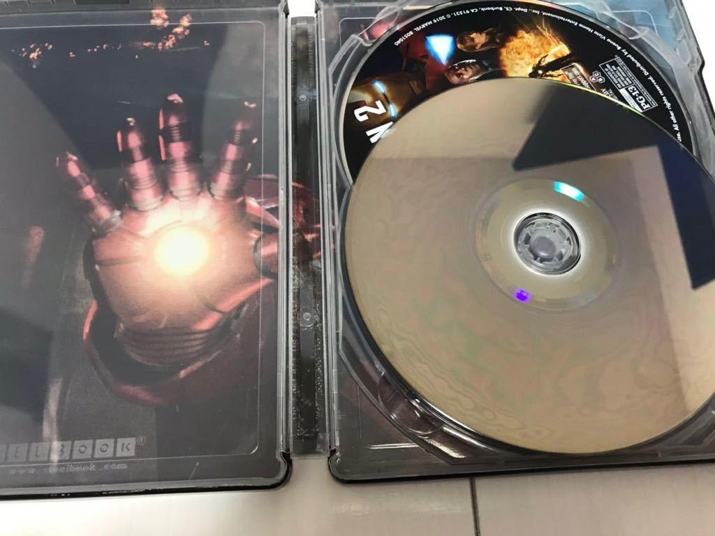 アイアンマン2 Iron Man 2 (4K Ultra HD/Blu-ray) スチールブック海外盤 4Kのみに日本語字幕と日本語吹替有り 中古_画像6