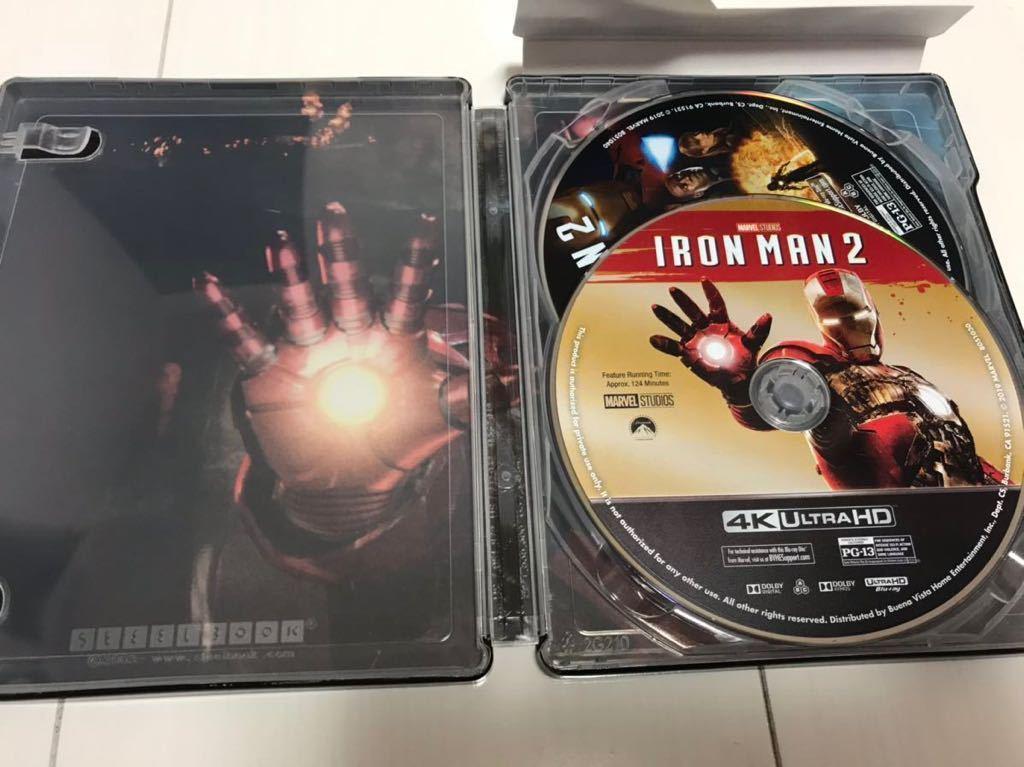 アイアンマン2 Iron Man 2 (4K Ultra HD/Blu-ray) スチールブック海外盤 4Kのみに日本語字幕と日本語吹替有り 中古_画像5