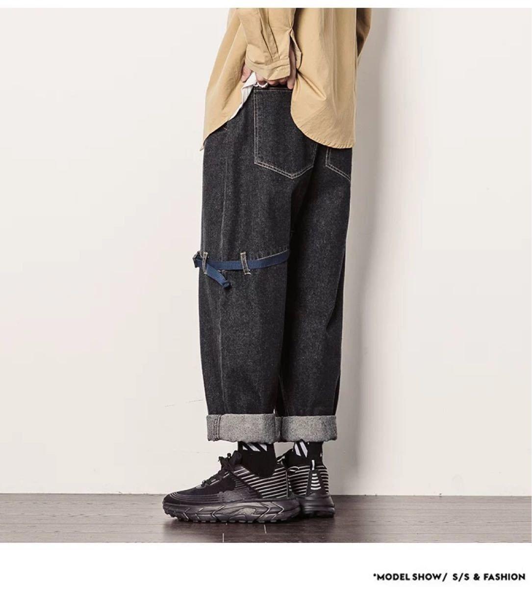 デニム ワイドパンツ ジーンズ ボトムス ストレート パンツ 色サイズ選べます