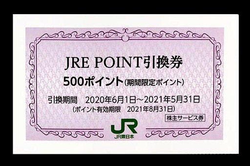 JRE POINT JREポイント引換券 500ポイント 1枚単位 JR東日本株主優待・サービス券の一部 _画像1