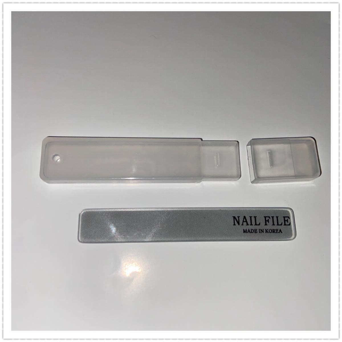 ガラス製 爪磨き 1個 / ネイルケア ネイルシャイナー 爪やすり 韓国