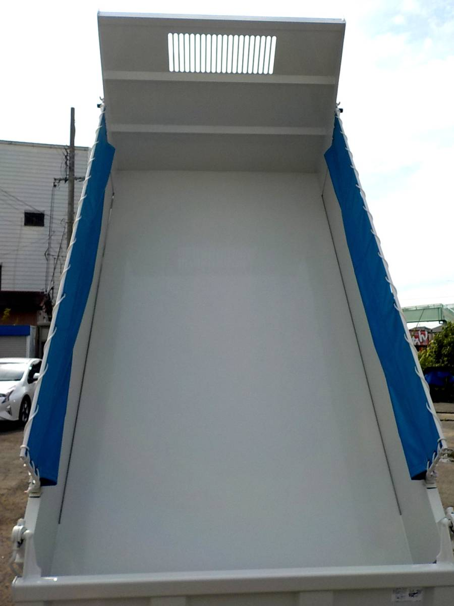 「★いすづエルフSGグレード♪未使用3トン低床(フルフラットロー)強化ダンプ♪ロング車検!コボレーン付(ストッパー加工済み)」の画像3