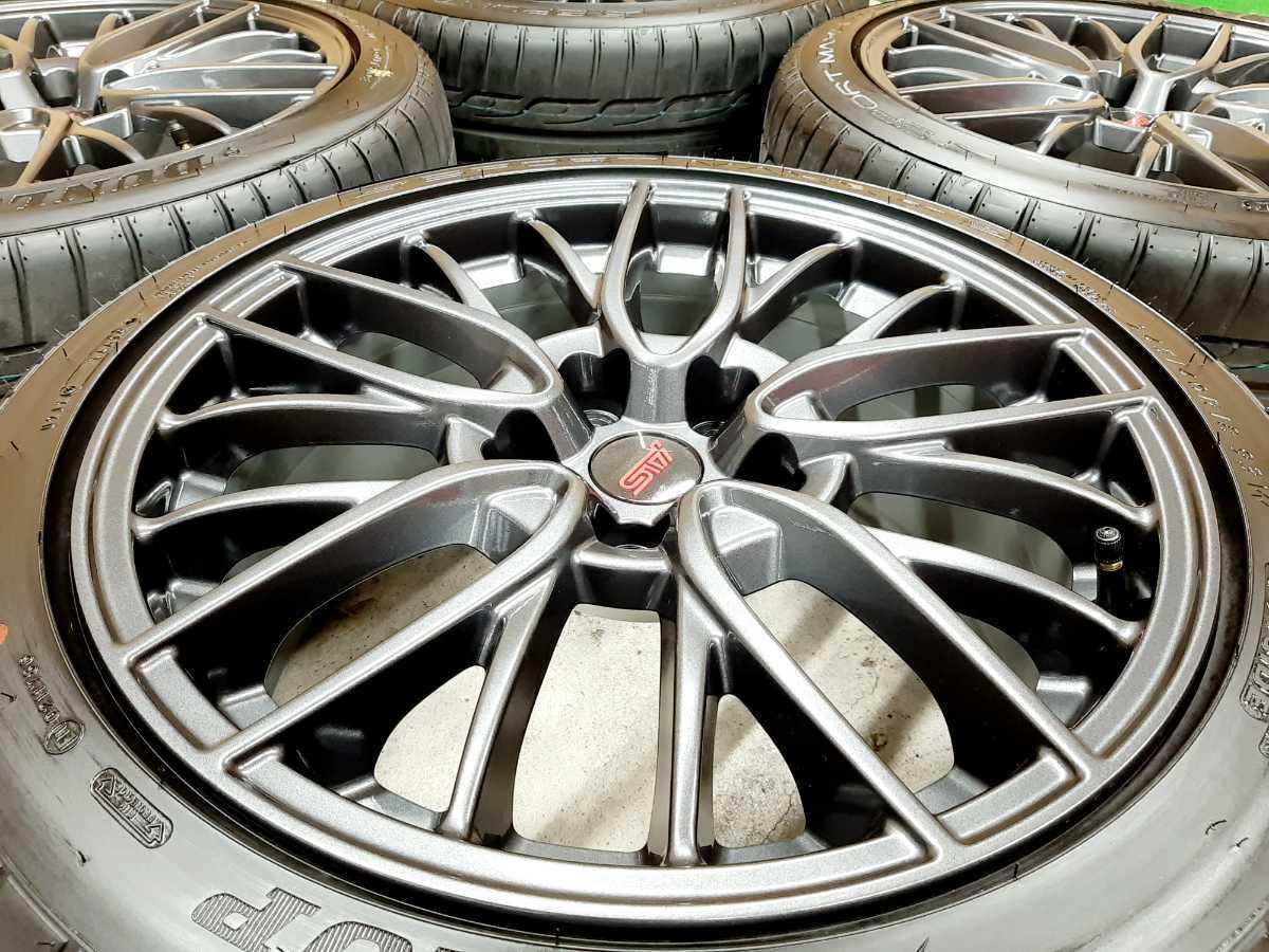 【新車外し】スバル WRX STI VAB 純正 STI ホイール SPスポーツMAXX 245/40R18 4本セット【レヴォーグ GDB GRB GVB 114.3 8.5J ブレンボ】_画像7