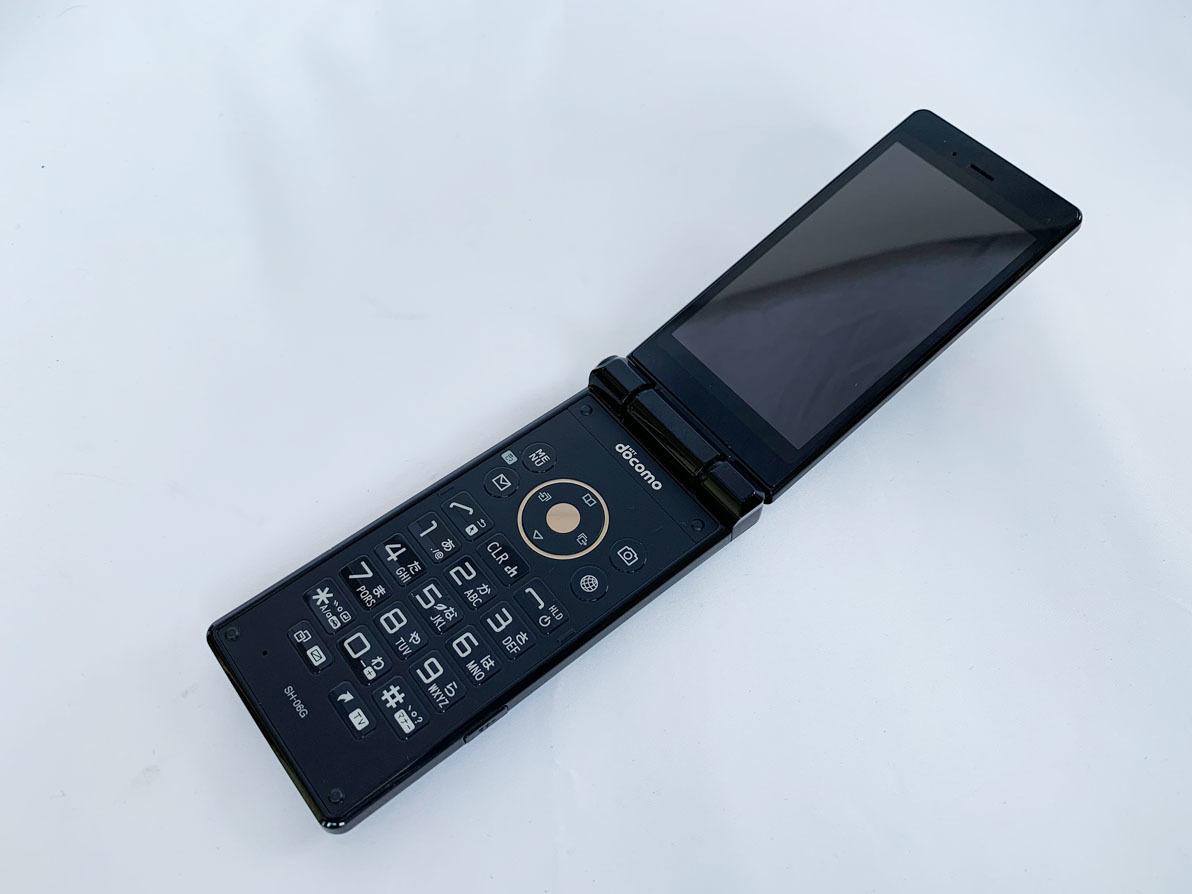 ★美品★ docomo アクオス携帯電話 SH-06G ブラック ガラケー _画像1