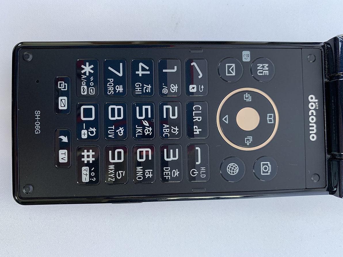 ★美品★ docomo アクオス携帯電話 SH-06G ブラック ガラケー _画像8