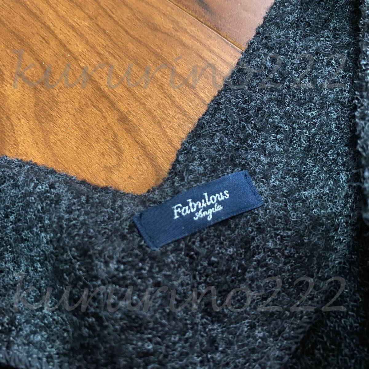 ◇中古 古着★即決【Fabulous Angela/ニット スカート セットアップ】フリーサイズ レディース 長袖 冬 デート 女子 可愛い 膝上 服 洋服_画像6