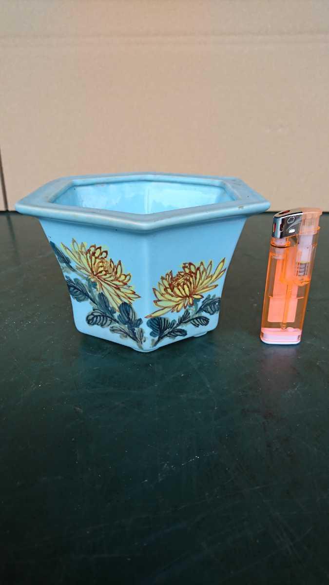 盆栽 鉢 中国 古盆器 幅12.8cm_画像1