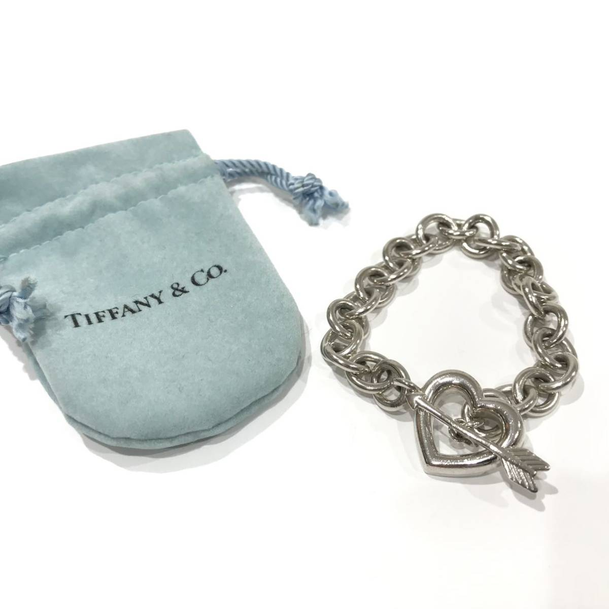 TIFFANY&Co. ティファニー ブレスレット ハート アロー シルバー 925 袋付き (AJ20)