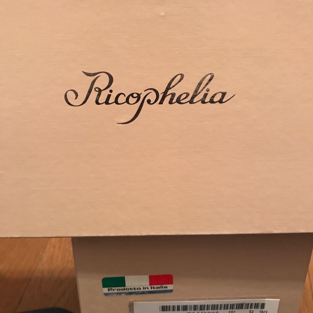 パンプスリボンフラットシューズイタリア製白ricopheliaフォーマルシューズ 高島屋購入