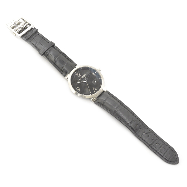 ルイヴィトン メンズ 時計 タンブール Q1D00 ダミエ ブラック Louis Vuitton【中古】_画像2