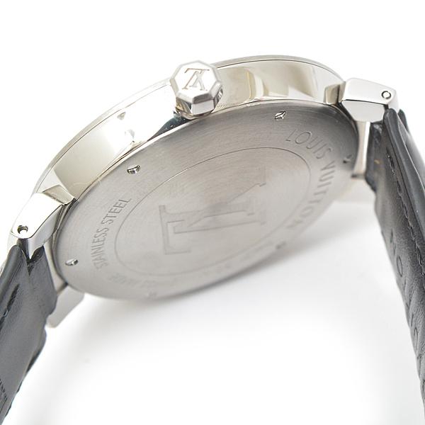 ルイヴィトン メンズ 時計 タンブール Q1D00 ダミエ ブラック Louis Vuitton【中古】_画像4