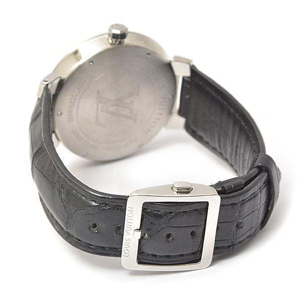 ルイヴィトン メンズ 時計 タンブール Q1D00 ダミエ ブラック Louis Vuitton【中古】_画像9