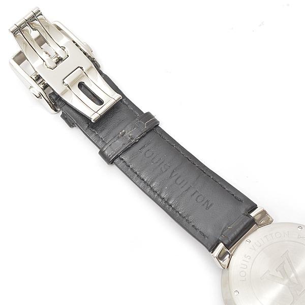 ルイヴィトン メンズ 時計 タンブール Q1D00 ダミエ ブラック Louis Vuitton【中古】_画像8