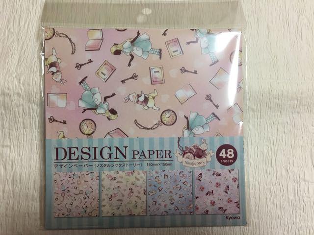 ♪未使用 素人保管品 ノスタルジックストーリー デザインペーパー 折り紙_画像1