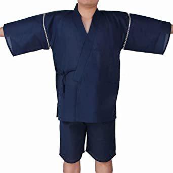 #09 LL=XL YIMANIE 甚平 メンズ 上下 2点セット しじら織り 作務衣 パジャマ 綿100% 和服 ゆったり 無_画像2