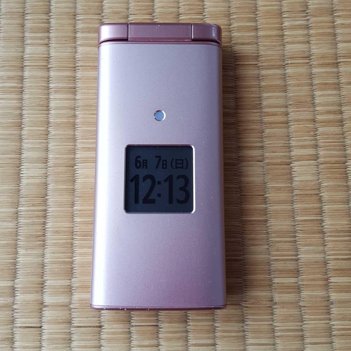 SIMフリー☆4G ガラホ☆au☆KYF36(ピンク)SIMロック解除済☆京セラ SoftBank DOCOMO かんたんケータイ シンプル 使いやすい 携帯 スマホ_画像1