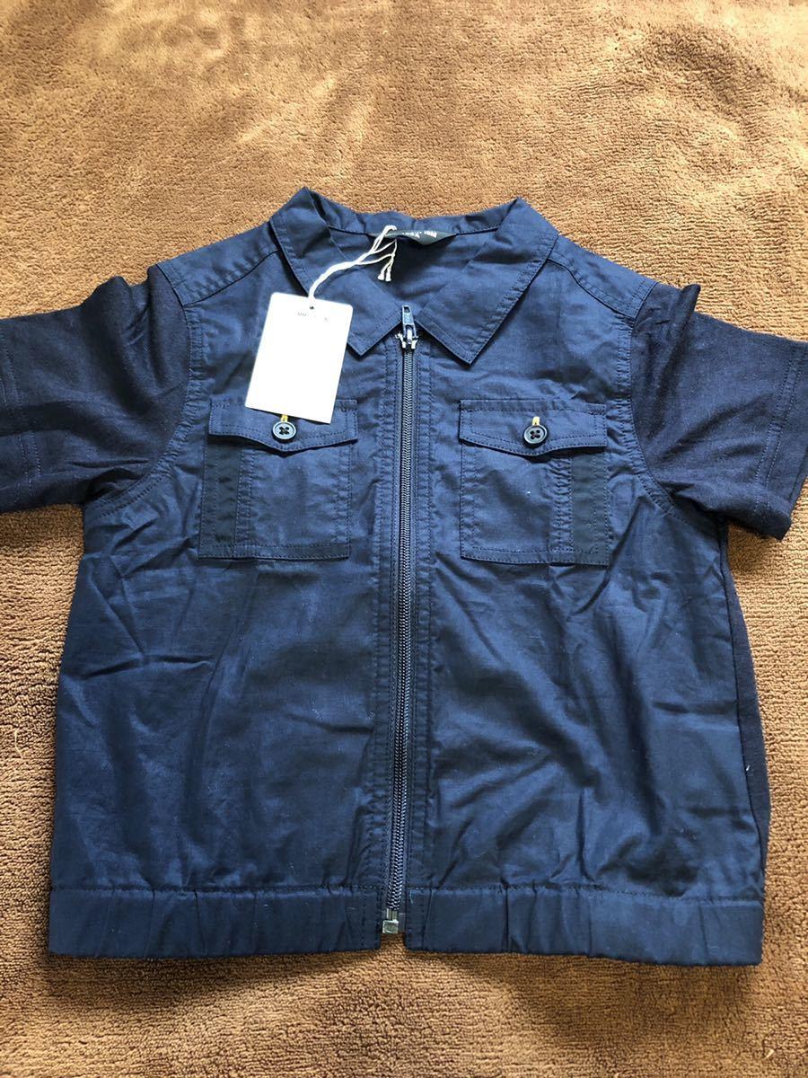 新品タグ付き コムサイズム 半袖シャツ サイズ100