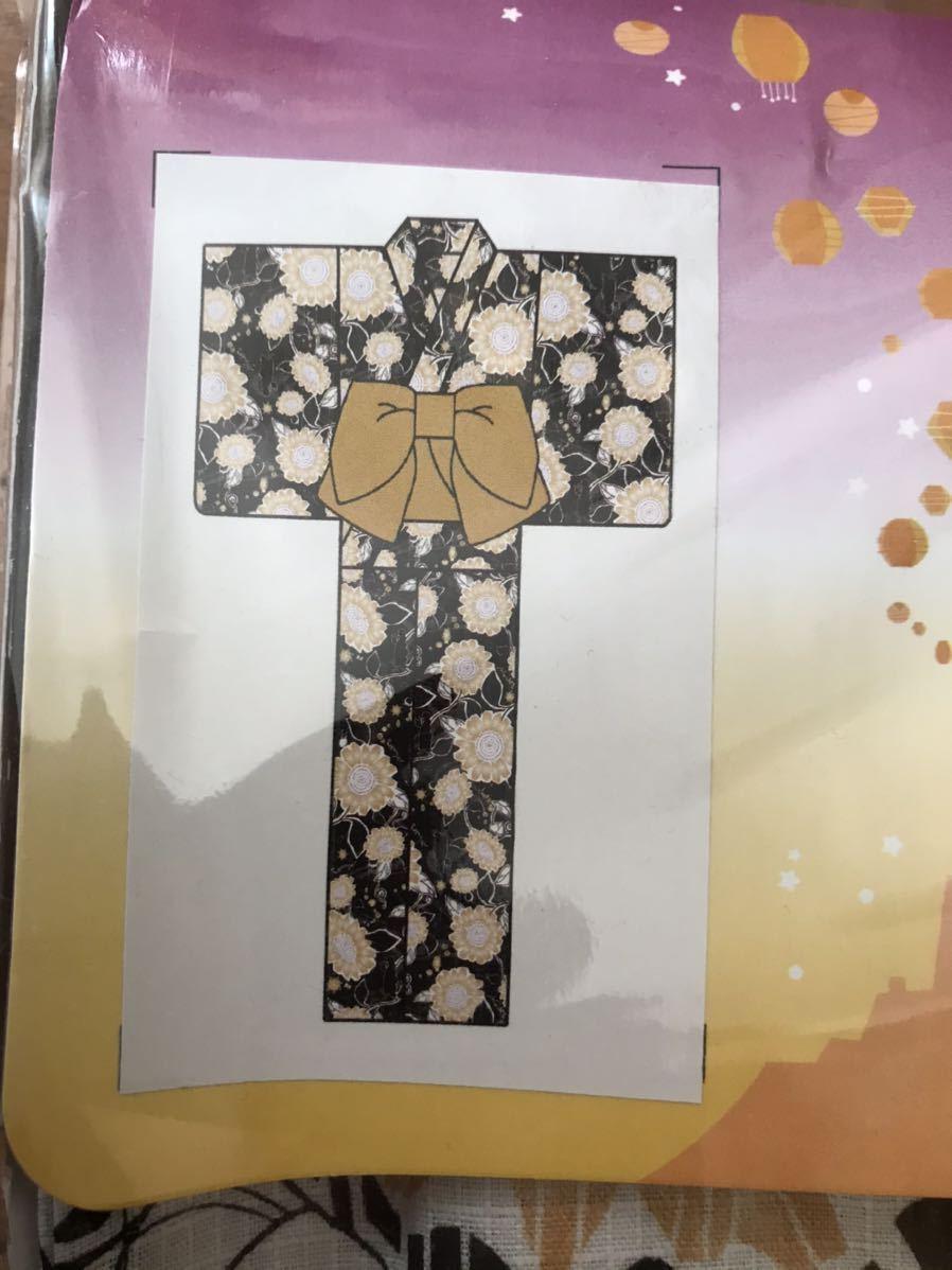 【未使用】浴衣ディズニー ラプンツェル3点セット(ゆかた・下駄・くるピタ簡単帯)_画像2