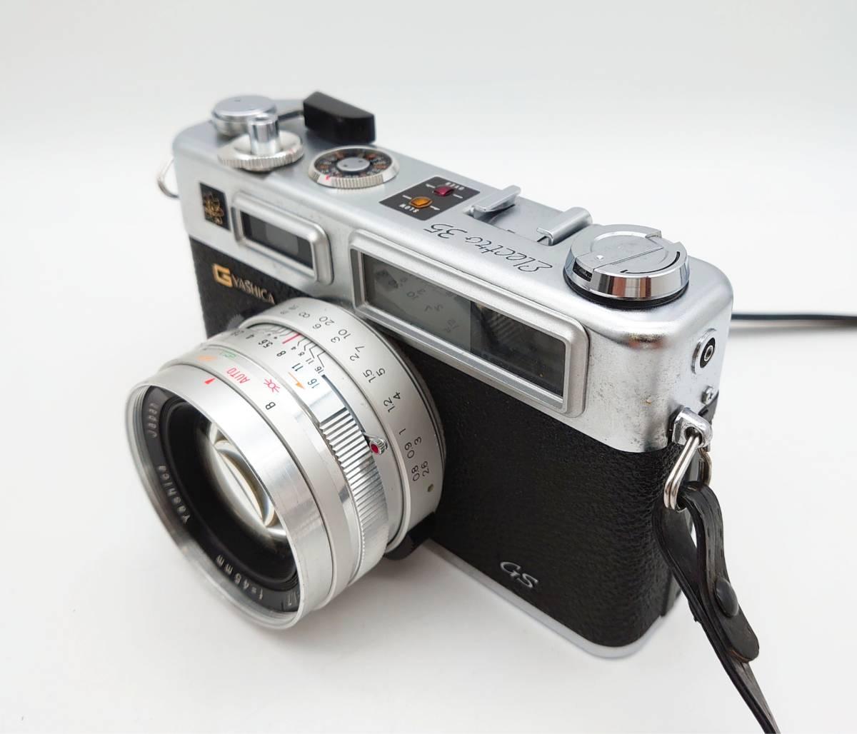 YASHICA ELECTRO35 GS ヤシカ エレクトロ35 GS レンズ 1:1.7 f=45㎜ カメラケース・レンズキャップ・ストラップ付 TT20200606_画像3