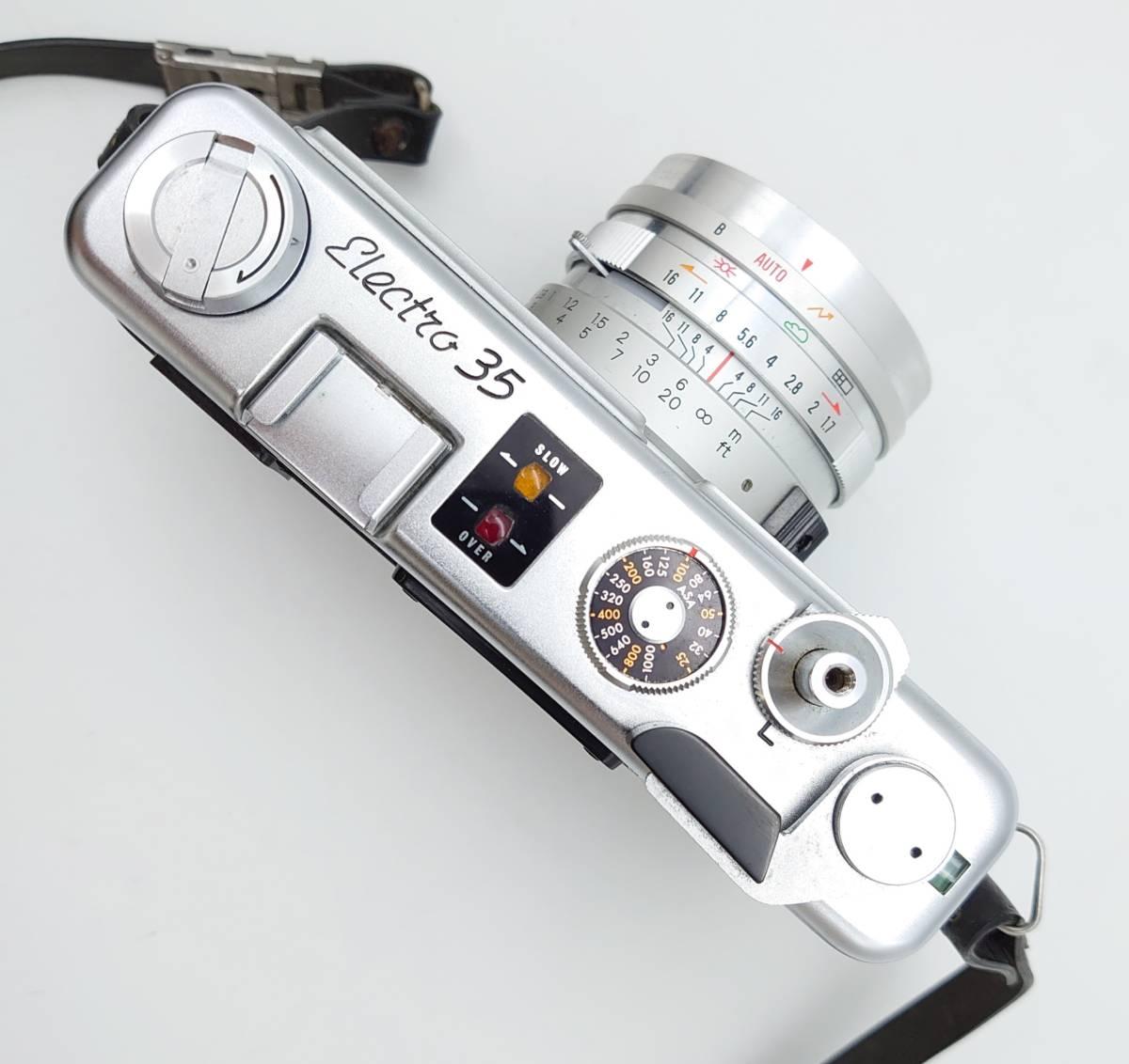 YASHICA ELECTRO35 GS ヤシカ エレクトロ35 GS レンズ 1:1.7 f=45㎜ カメラケース・レンズキャップ・ストラップ付 TT20200606_画像4