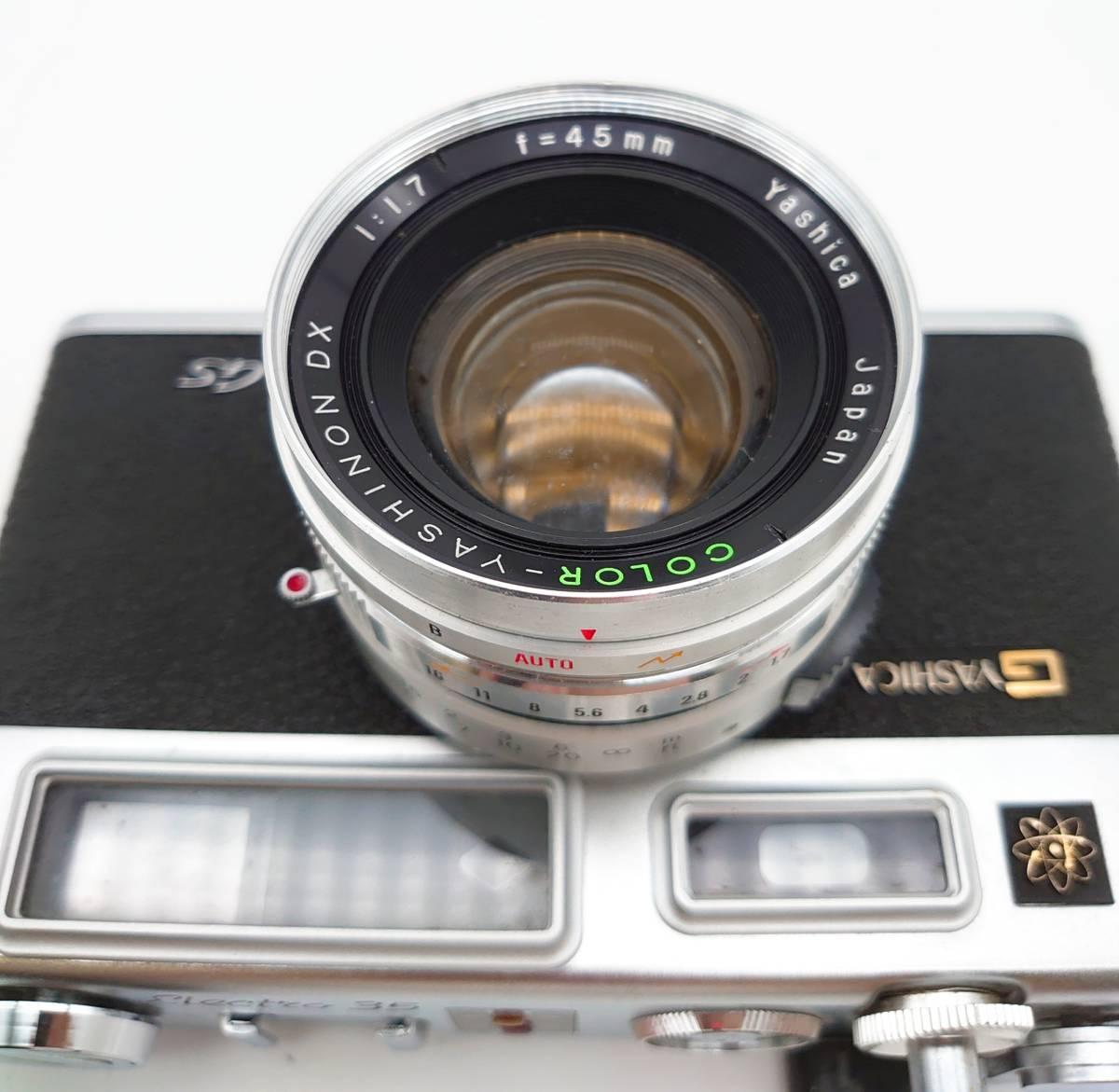 YASHICA ELECTRO35 GS ヤシカ エレクトロ35 GS レンズ 1:1.7 f=45㎜ カメラケース・レンズキャップ・ストラップ付 TT20200606_画像6