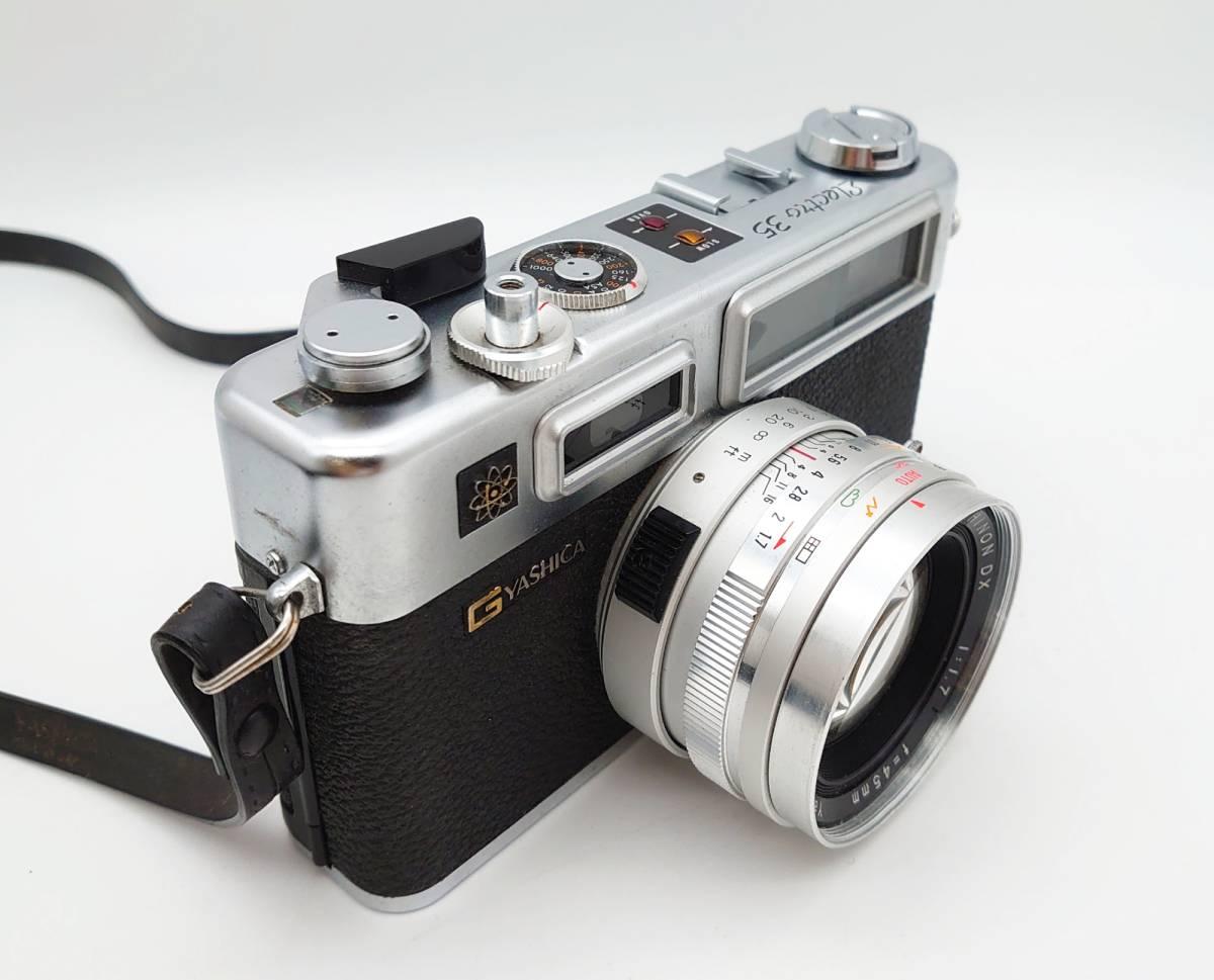 YASHICA ELECTRO35 GS ヤシカ エレクトロ35 GS レンズ 1:1.7 f=45㎜ カメラケース・レンズキャップ・ストラップ付 TT20200606_画像2