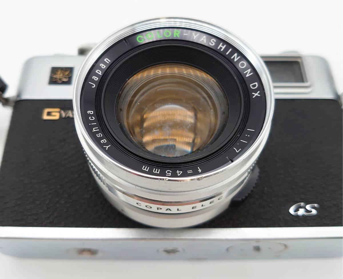 YASHICA ELECTRO35 GS ヤシカ エレクトロ35 GS レンズ 1:1.7 f=45㎜ カメラケース・レンズキャップ・ストラップ付 TT20200606_画像5