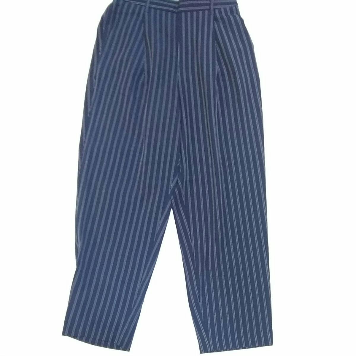 GU 紺色ストライプパンツ Lサイズ