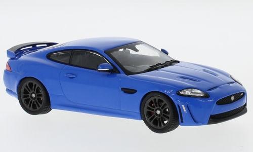 現品限り デッドストック ディーラー特注/IXO 1/43 ジャガー XKR-S 2011 ブルー Jaguar_画像1