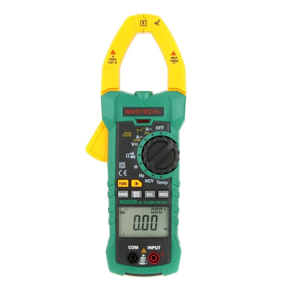 MASTECH MS2015B 1000A AC クラ ンプメーター キャパシタンス/ 周波数/温度テスト、非接触電圧・導通テスト ダイオードチェック(箱なし)_画像1
