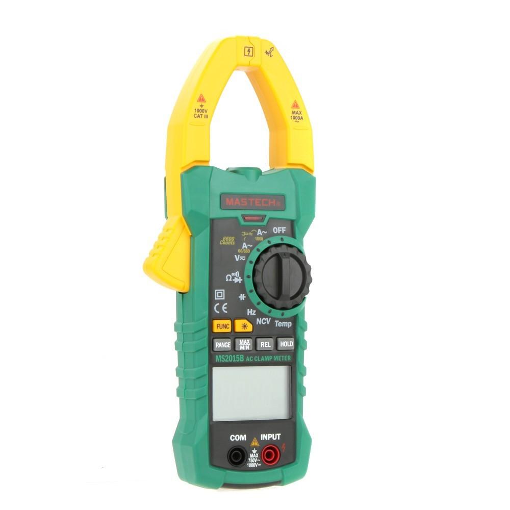 MASTECH MS2015B 1000A AC クラ ンプメーター キャパシタンス/ 周波数/温度テスト、非接触電圧・導通テスト ダイオードチェック(箱なし)_画像3