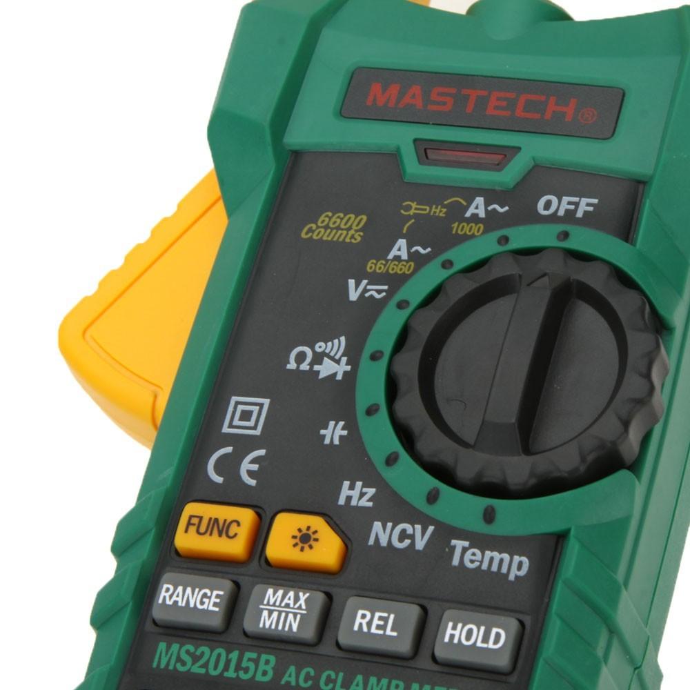 MASTECH MS2015B 1000A AC クラ ンプメーター キャパシタンス/ 周波数/温度テスト、非接触電圧・導通テスト ダイオードチェック(箱なし)_画像4