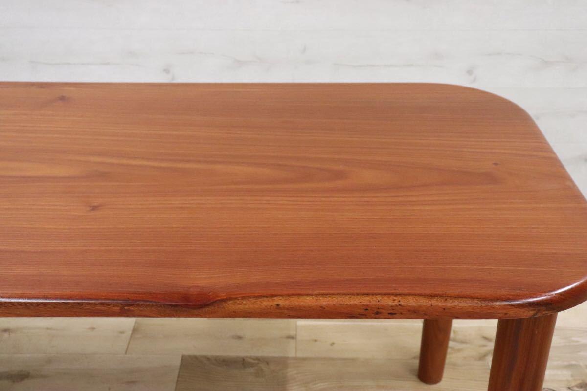 GMDKS241 ○ 北欧 ヴィンテージ スタイル 大型 ダイニングテーブル 作業台 店舗 カフェ 什器 天然木 無垢材_画像4