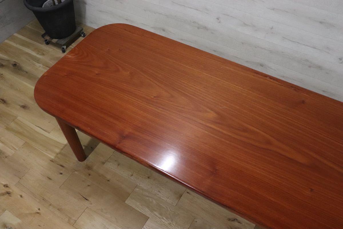 GMDKS241 ○ 北欧 ヴィンテージ スタイル 大型 ダイニングテーブル 作業台 店舗 カフェ 什器 天然木 無垢材_画像5