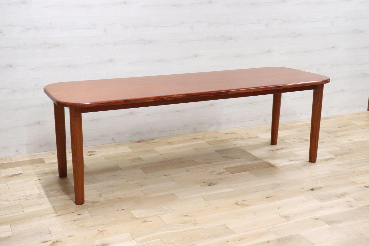 GMDKS241 ○ 北欧 ヴィンテージ スタイル 大型 ダイニングテーブル 作業台 店舗 カフェ 什器 天然木 無垢材_画像2