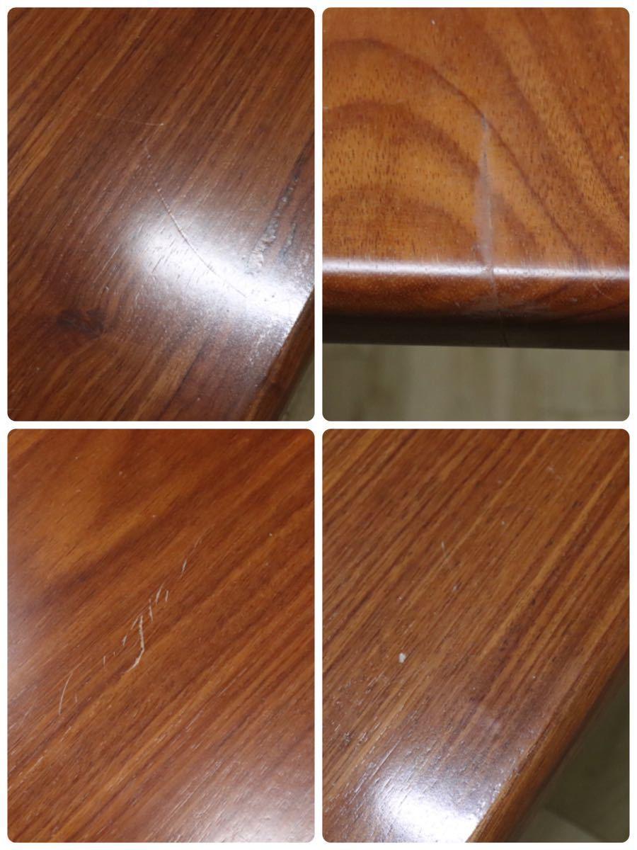 GMDKS241 ○ 北欧 ヴィンテージ スタイル 大型 ダイニングテーブル 作業台 店舗 カフェ 什器 天然木 無垢材_画像7